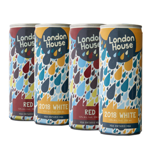 London House Red & White Can – 4 Pack