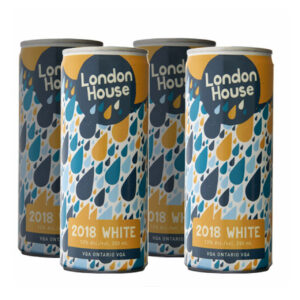 London House 2018 White 4 Pack Can